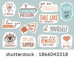 motivational patches. love... | Shutterstock .eps vector #1866043318
