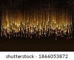 curtain of golden particles on... | Shutterstock .eps vector #1866053872