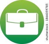 briefcase icon in circle . icon ...