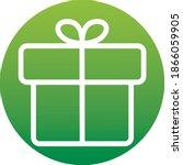 gift box vector icon button ...
