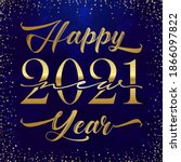 2021 a happy new year congrats... | Shutterstock .eps vector #1866097822