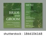 modern abstract luxury wedding... | Shutterstock .eps vector #1866106168
