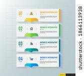 infographics template 4 options ...   Shutterstock .eps vector #1866113938