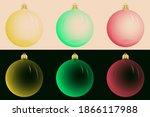 Set Of Christmas Toys  Colorful ...