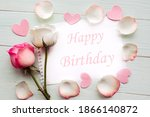 roses and white mockup blank at ...   Shutterstock . vector #1866140872