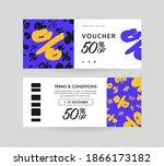 discount voucher design  front... | Shutterstock .eps vector #1866173182