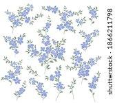 beautiful flower illustration... | Shutterstock .eps vector #1866211798