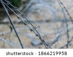 Sharp Barbed Wire Shape With...