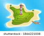 Isometric Island With A...