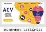 vector website design template .... | Shutterstock .eps vector #1866224338