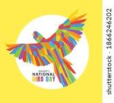 vector graphic of national bird ... | Shutterstock .eps vector #1866246202