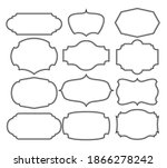 set of frames border design   Shutterstock .eps vector #1866278242