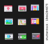 user interface vector icons set