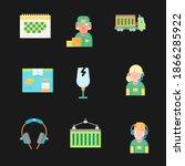 global data sharing data...   Shutterstock .eps vector #1866285922