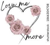 vintage romantic love me more... | Shutterstock .eps vector #1866304708