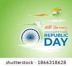 vector banner of happy republic ... | Shutterstock .eps vector #1866318628
