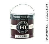 Small photo of SWINDON, UK - DECEMBER 3, 2020: A tin of Farrow and Ball Estate Emulsion paint on a white background