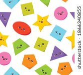 geometric funny shapes cute... | Shutterstock .eps vector #1866340855