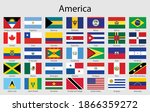 set of flags americas countries ... | Shutterstock .eps vector #1866359272