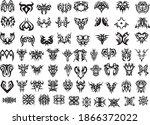 tattoo in vector. sticker... | Shutterstock .eps vector #1866372022