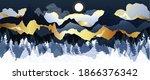 gold mountain wallpaper design... | Shutterstock .eps vector #1866376342