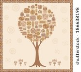 background ethnic tree | Shutterstock .eps vector #186638198