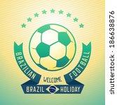 emblem design for football... | Shutterstock .eps vector #186638876