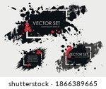 illustrated ink spots set...   Shutterstock .eps vector #1866389665