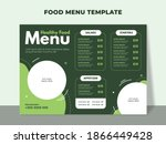 healthy food menu template for... | Shutterstock .eps vector #1866449428