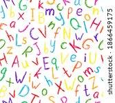 Crayon Alphabet Pattern....