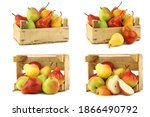 Fresh Pears And Apples In A...