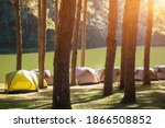 adventures camping and tent... | Shutterstock . vector #1866508852