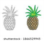 Two Pineapples With Black And...