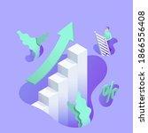isometric vector illustration... | Shutterstock .eps vector #1866556408