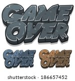 cartoon game over icon ...