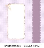 background with lace ribbon  a...   Shutterstock .eps vector #186657542