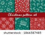 christmas doodle seamless... | Shutterstock .eps vector #1866587485