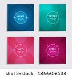 linear vinyl records music...   Shutterstock .eps vector #1866606538