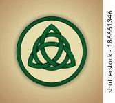 celtic knot symbol of trinity....   Shutterstock .eps vector #186661346