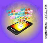media technology illustration...   Shutterstock .eps vector #186663545