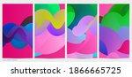 3d fluid wavy shape. bright...   Shutterstock .eps vector #1866665725