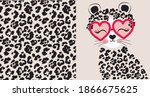 leopard seamless pattern. cute...   Shutterstock .eps vector #1866675625