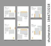 set of editable banner social... | Shutterstock .eps vector #1866713218