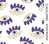 mediterranean geometric evil... | Shutterstock .eps vector #1866737872