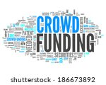 word cloud with crowd funding... | Shutterstock . vector #186673892