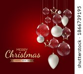 merry christmas and happy new... | Shutterstock . vector #1866739195