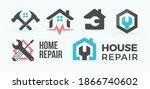 home repair flat cartoon style... | Shutterstock .eps vector #1866740602