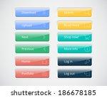vector web buttons set | Shutterstock .eps vector #186678185