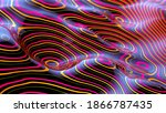 abstract wave lines background  ... | Shutterstock . vector #1866787435