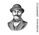 victorian gentleman. belgian... | Shutterstock .eps vector #1866810112